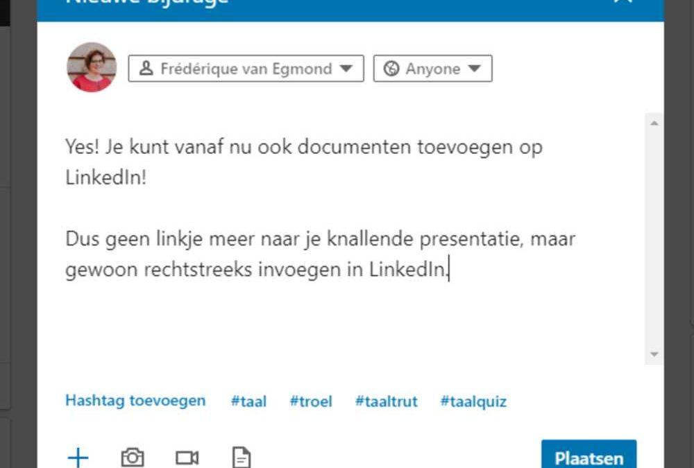 linkedin-document-nieuwe-bijdrage