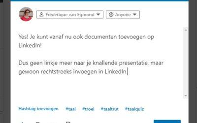 Je document delen op LinkedIn: het hoe en waarom