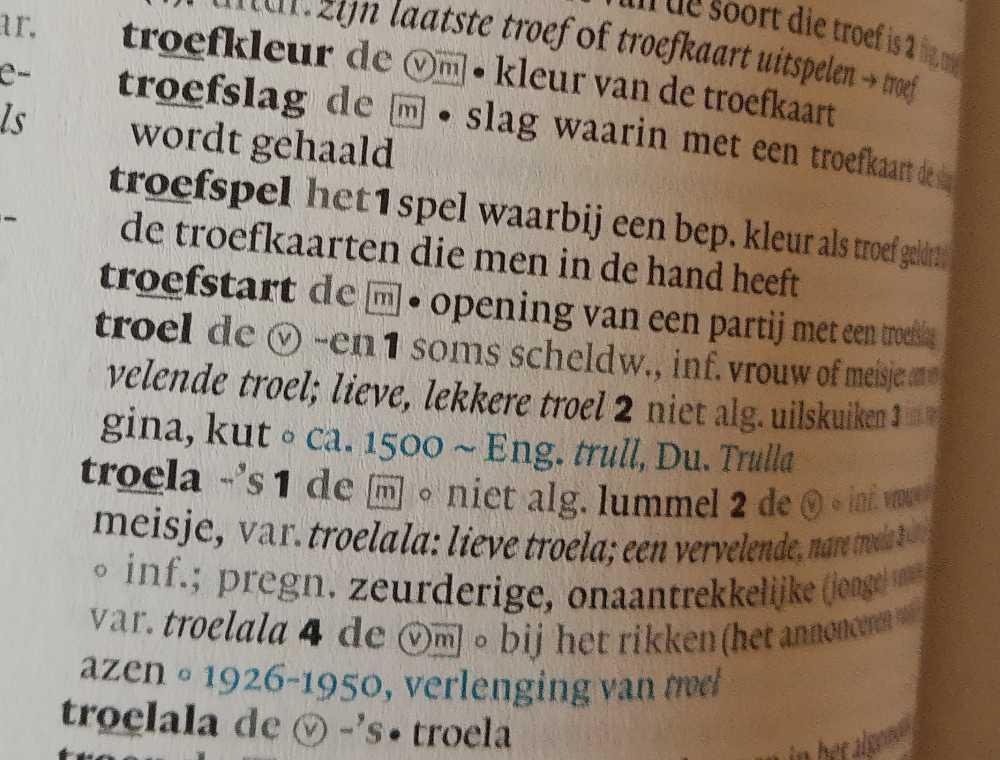 troel-woordenboek